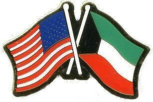 12 Pins - KUWAIT & AMERICAN FLAG , us usa lapel pin 731