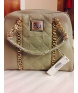 Elegant Silver Piju Medium Quilted Dome Satchel w Shoulder Strap MSRP $7... - $37.61
