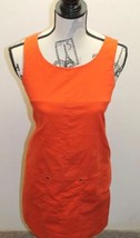 J.Crew Little Orange Women Dress Sz 2 P Mini Skirt Pinafore Sleeveless  ... - $15.43