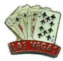 12 Pins - LAS VEGAS PLAYING CARDS gambler hat pin #4632 - $8.00