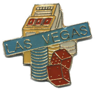 12 Pins - LAS VEGAS slot machine chips dice pin #4616