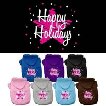 SCRIBBLED HAPPY HOLIDAYS Dog Hoodie Sweatshirt * Puppy Christmas Star Sw... - €14,05 EUR+