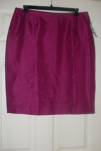 Le Suit Quebec New Womens Magenta Straight Skirt    16 - $14.99