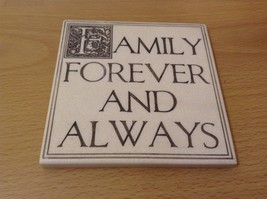 """NEW """"Family Forever and Always"""" Resin Wall Plaque/Stand - $29.69"""