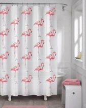 Pink Flamingo Whimsical Fabric Shower Curtain, ... - $21.98