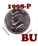 1998 P KENNEDY HALF DOLLAR===BRILLIANT UNCIRCULATED---FREE SHIPPING - €2,28 EUR