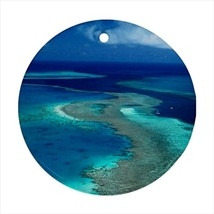 Great Barrier Reef Australia Round Porcelain Ornament - Holiday Seasons - $7.71