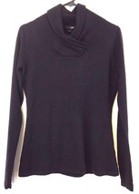 East 5th Sweater Crossover Cowl Neck Long Sleeve Soft Pullover Soft Size... - $13.36