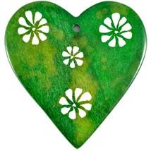 Tabaka Chigware Hand Carved Kisii Soapstone Green Heart Stone Ornament image 1