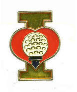 12 Pins - I LOVE GOLF , sports golfer golfing pin #383 - £6.85 GBP