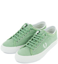 Fred Perry Men's Kendrick Tipped Cuff Brushed Coated Trainers Shoes B826... - $51.52