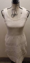 Jessica Simpson Women Cable Knitted Dress Cream Medium Sleeveless Lined ... - $15.43