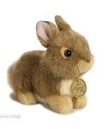Little brown  baby bunny Stuffed Plush Animal perfect for Easter basket ... - $14.84