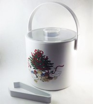 Phoenix Christmas Tree and Goose Ice Bucket White Plastic Insulated with... - €15,81 EUR