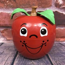 Vintage Fisher Price Happy Apple Roly Poly Chime Toy 435 Short Stem Vers... - $45.99