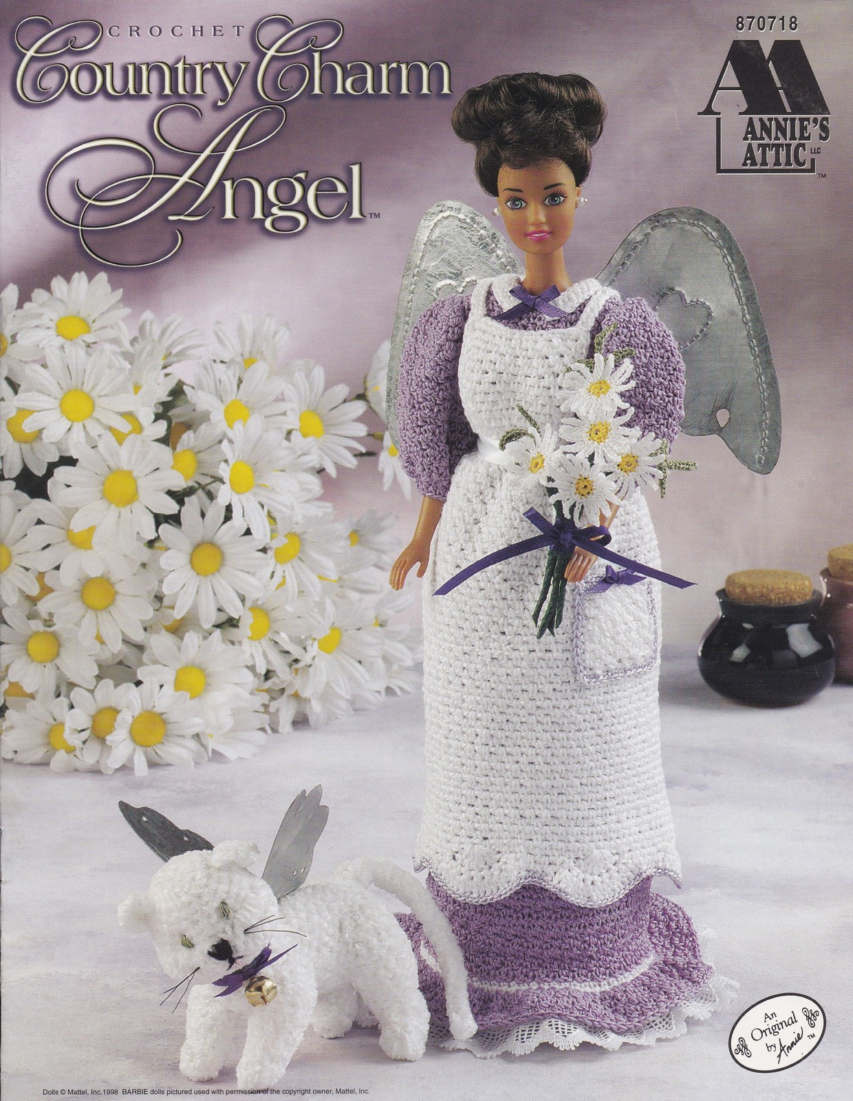 Country Charm Angel, Annie's Attic Doll Clothes Crochet Pattern Booklet 870718