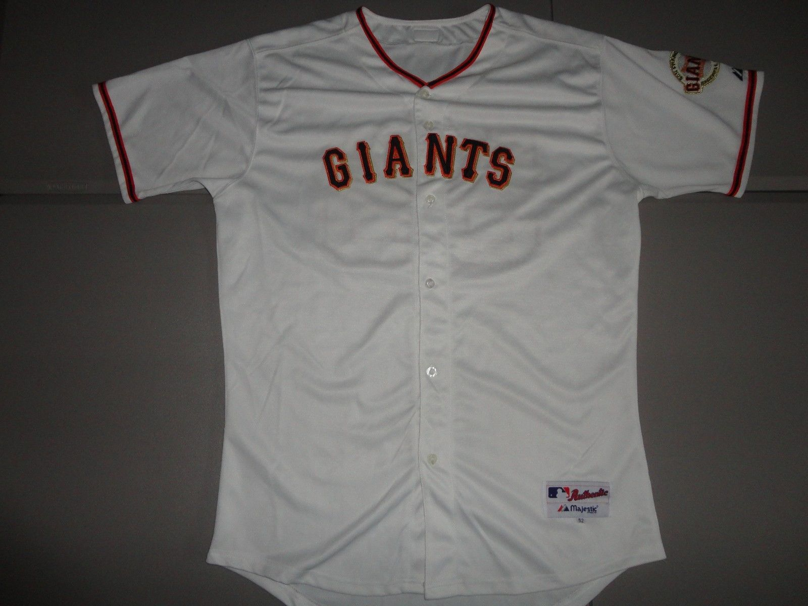 de2f8a5f04d 57. 57. White Majestic  55 LINCECUM AUTHENTIC SEWN Team MLB Baseball Jersey  MENS SIZE 52