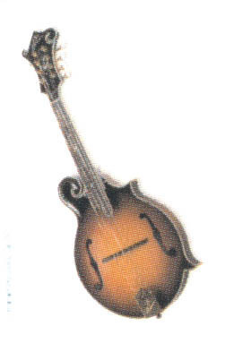 12 Pins - MANDOLIN , music hat lapel pin #4870
