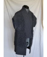 TROUVE Sweater Coat M Gray Cap Sleeve Wool Blend Bust 40 inch  VERY NICE - $39.50