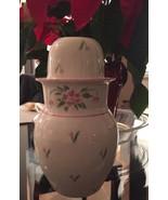 Bedside Ceramic Water Carafe Pitcher & Cup - Vintage 1985 Teleflora Tumb... - $19.99