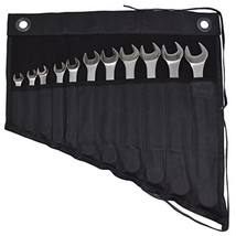 Waxed Canvas Wrench / Tool Roll 11 Pockets Hanging Storage for Craftsmen... - $37.06