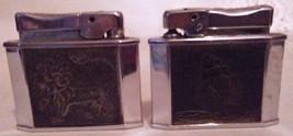 Vintage lot of 2 Rogers Cigarette Lighters Lion/Ship Parts or repair - $16.95