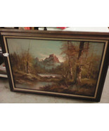 George Whitman Mountain Oil Painting 31Hx42W - $200.00