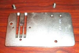 Pfaff 332 Free Arm Throat Plate #60401 w/Two Mounting Screws - $15.00