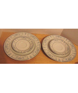 Vintage 2 Plates & 2 Saucers Sheffield Blue Whi... - $28.70