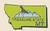 12 Pins - MONTANA , state hat tac lapel pin sp350