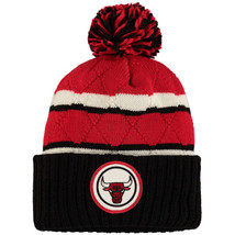 MITCHELL & NESS Chicago Bulls High Five Quilted Pom Beanie Adult One Siz... - $24.99