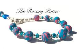 Baptism Rosary, Handmade Clay Rosary, Baptism R... - $49.00