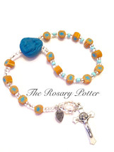 Orange Decade rosary, unique rosary, catholic g... - $49.00