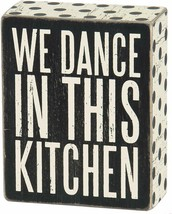 """Nice Chic Country Farmhouse Style Wooden """"We Dance in This Kitchen"""" Sign - $29.00"""