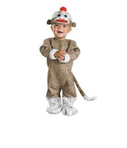 Baby Sock Monkey Costume Infant Toddler Child Fancy Dress Halloween 12-1... - $29.99