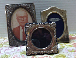Vintage Silver Plated Photo Frames // Tarnished Silver Frames / Table To... - $12.00