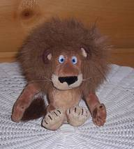 "Madagascar DreamWorks Fuzzy Mane Alex Plush 6"" Lion Sitting & Waiting to Travel - $6.29"