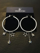 New Authentic Swarovski Mash Hoop crystal classic Earrings with Stars 10... - $124.95