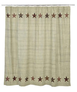 Farmhouse Abilene Star Fabric Shower Curtain Rustic Home Decor  - $49.99