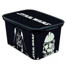 Star Wars Plastic Storage Bin Small Decorative ... - $21.49