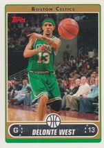 Delonte West 2006-07 Topps Card #118 - $0.99