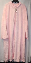 New Womens Plus Size 4X 26W 28W Luxurious Plush Light Pink House Bath Sleep Robe - $28.05