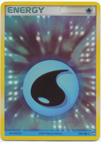 Water Energy 105/108 Holo Rare Power Keepers Pokemon Card