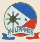 12 Pins - PHILIPPINES EMBLEM , flag hat lapel pin sp055
