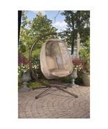 Outdoor Backyard Bark Egg Swing Chair Garden Patio Metal Hanging Seat Wi... - $373.99