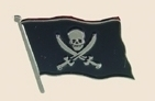 12 Pins - PIRATE SKULL AND CROSSBONES FLAG , pin sp315