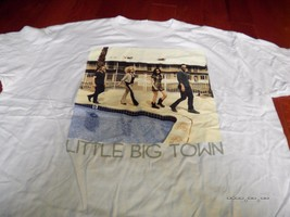"""LITTLE BIG TOWN """"PHOTO Concert  TOUR 2012"""" BAND PIC White T-SHIRT NEW OF... - $16.82"""