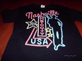 Small Nashville TN Music City CMA Festival T Shirt Sexy neon cowboy Luke... - $9.89