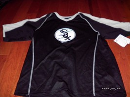 Nwt Majestic Chicago White Sox Medium M Shirt Majestic New Jersey Black Large - $17.59