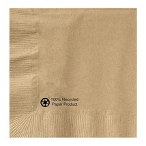 "Hoffmaster Kraft Beverage Napkin, 1 Ply, 1/4 Fold, 10"" x 10"", Natural - $42.00"